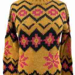 B.yu Caramel Pullover Front
